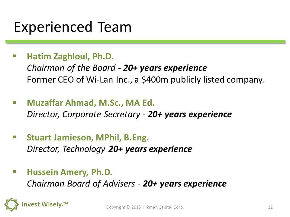  Hatim Zaghloul, Ph.D.