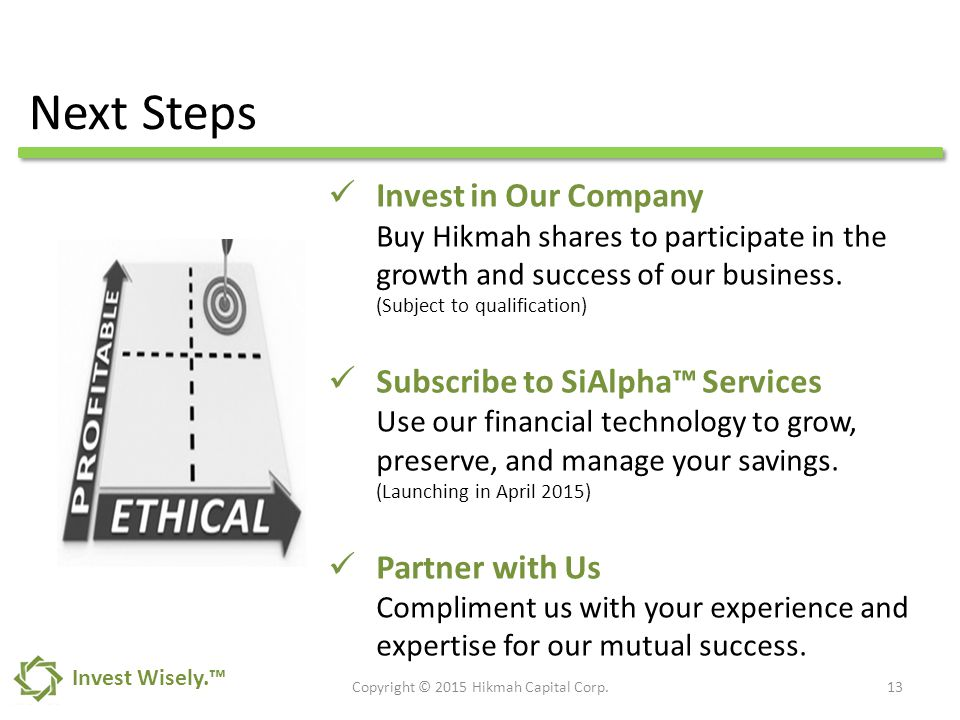Invest in Our Company Buy Hikmah shares to participate in the growth and success of our business.