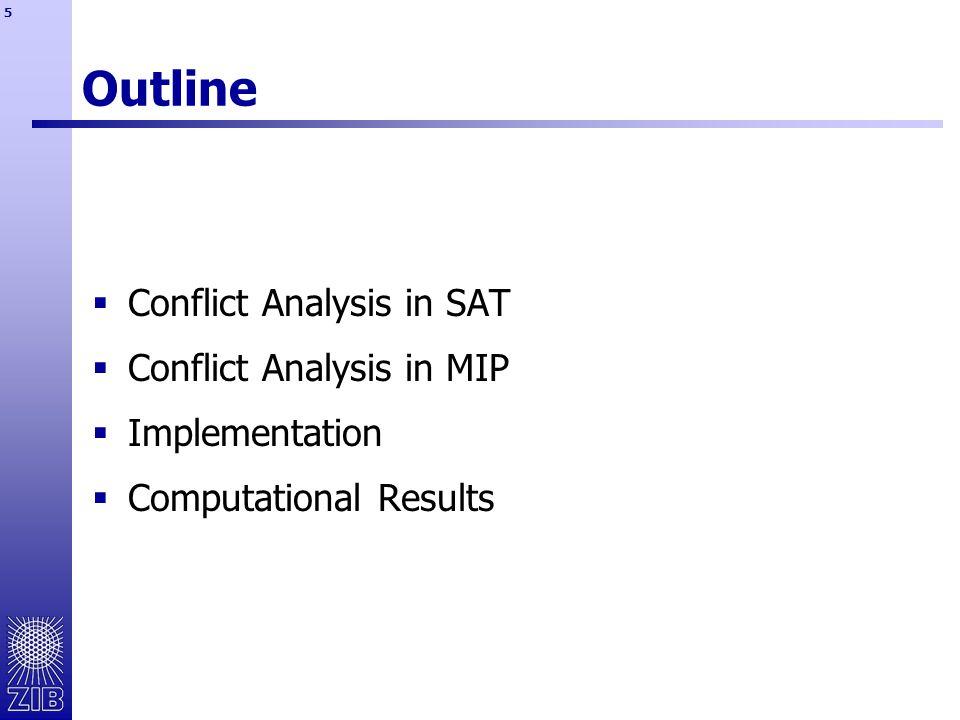 16 Conflict Graph – Trivial Cuts  -cut:  decision cut: