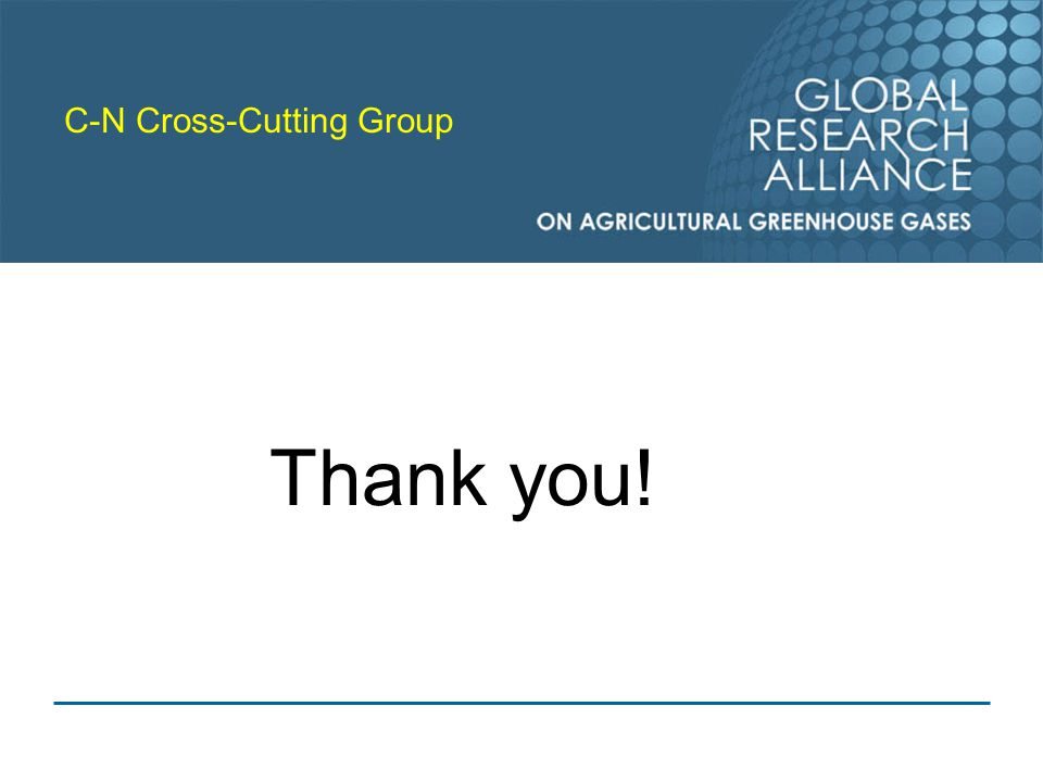 C-N Cross-Cutting Group Thank you!