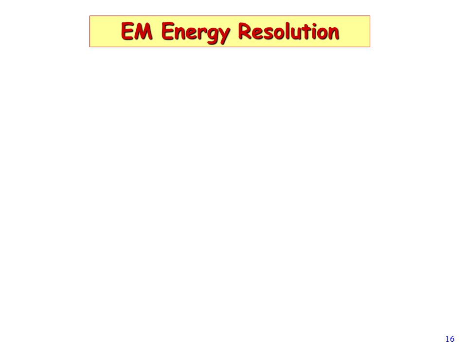 16 EM Energy Resolution