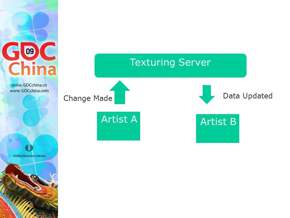 Artist A Artist B Texturing Server Change Made Data Updated