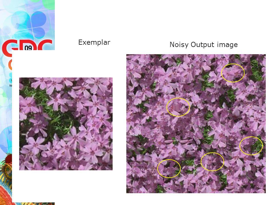 Exemplar Noisy Output image