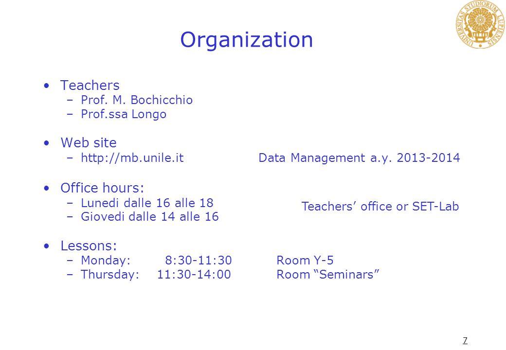 7 Organization Teachers –Prof. M.