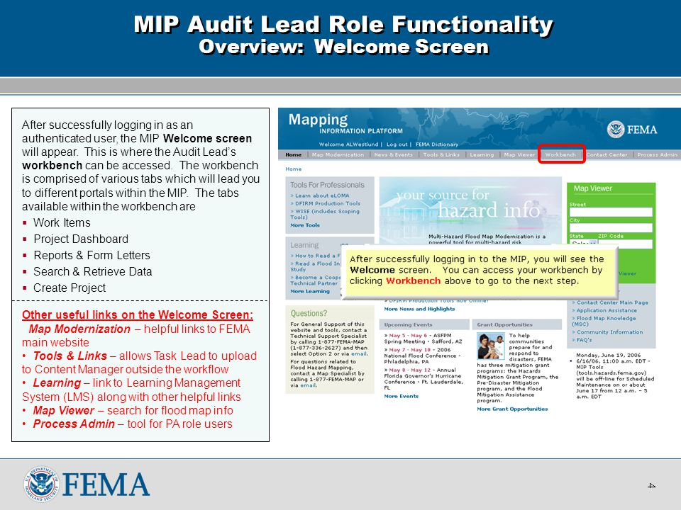 The Audit Lead's workbench is the location where the activity Audit Determination can be accessed.