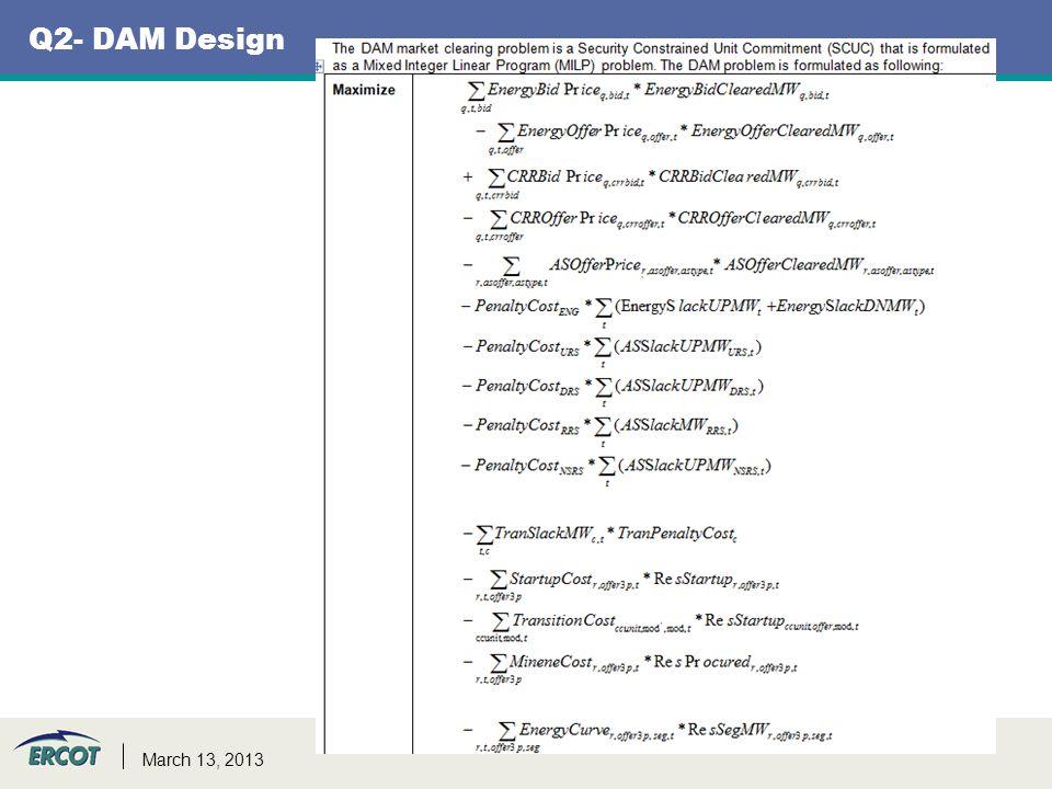 Q2- DAM Design 6 March 13, 2013