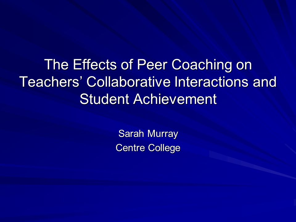 Aspects of the Peer Partner Conference Which Need Improvement (N = 30) Categoryn (%) None or not applicable13 (43.33) Stated the conference was smooth, positive, or great 7 (23.33) Time 3 (10.00) Response related more to summer institute 3 (10.00) Scheduling2 (6.67) Same school peers1 (3.33) More discussion1 (3.33) Total 30 (100.00)