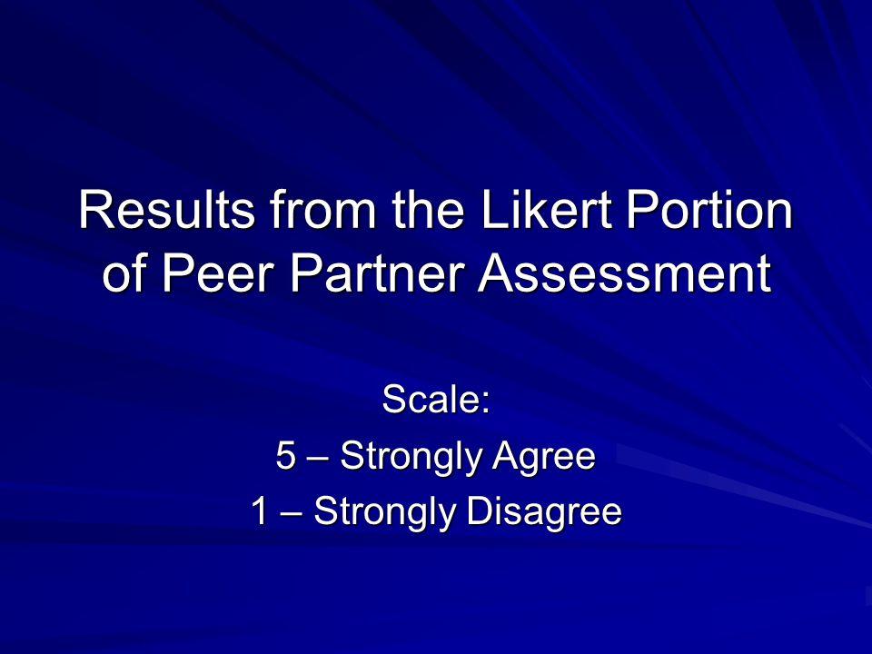 Peer Partner Assessment 2005 – 2006 (N = 74)
