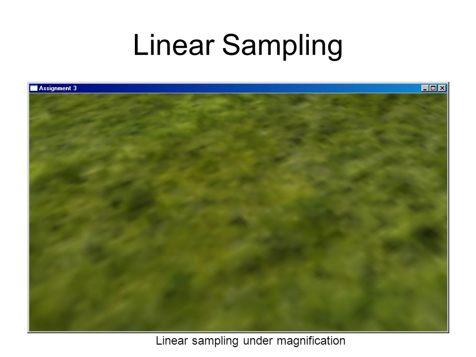 Linear Sampling Linear sampling under magnification
