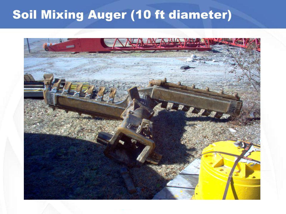 Soil Mixing Auger (10 ft diameter)