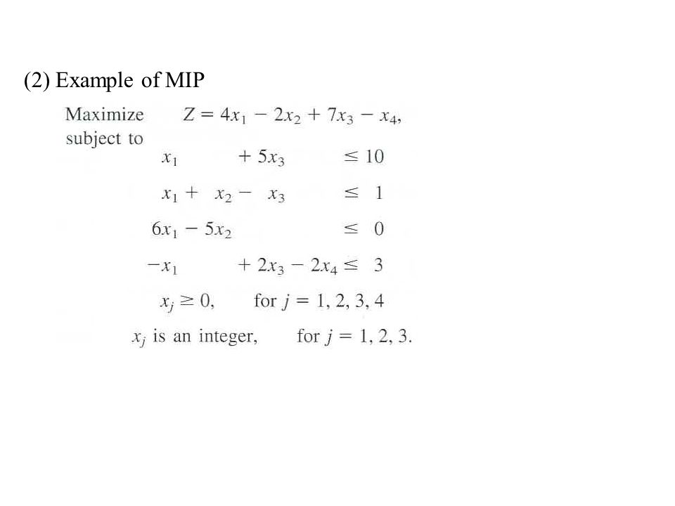 (2) Example of MIP