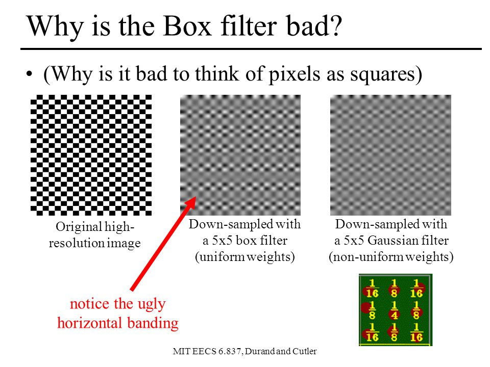 MIT EECS 6.837, Durand and Cutler Why is the Box filter bad.