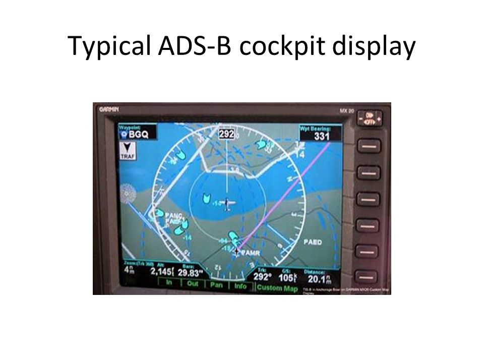 Typical ADS-B cockpit display