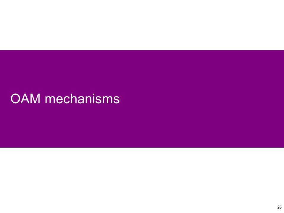 26 OAM mechanisms