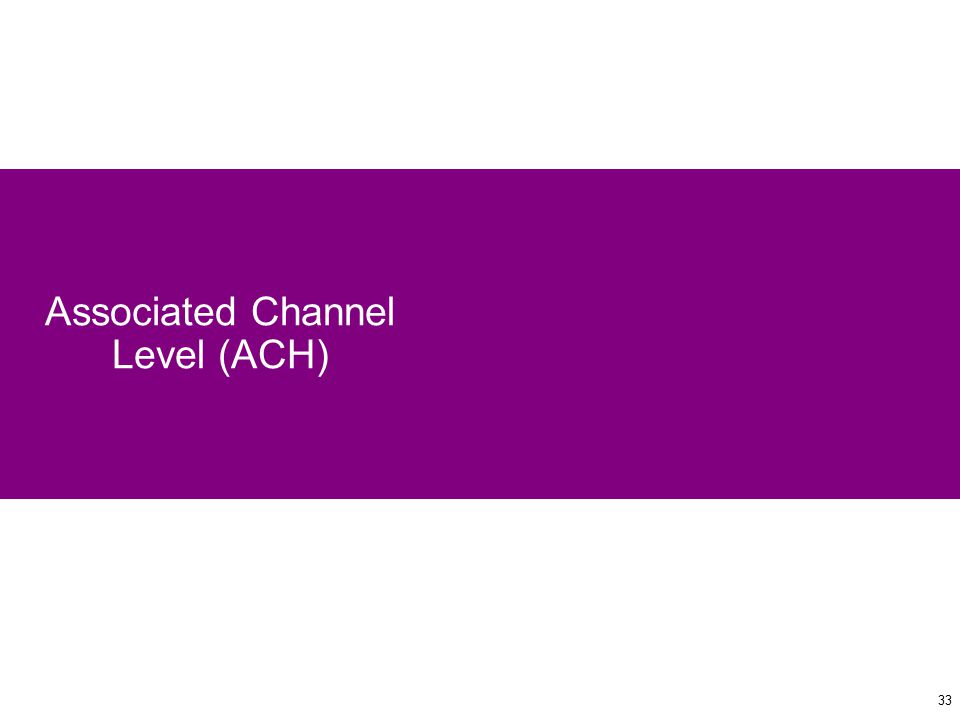33 Associated Channel Level (ACH)