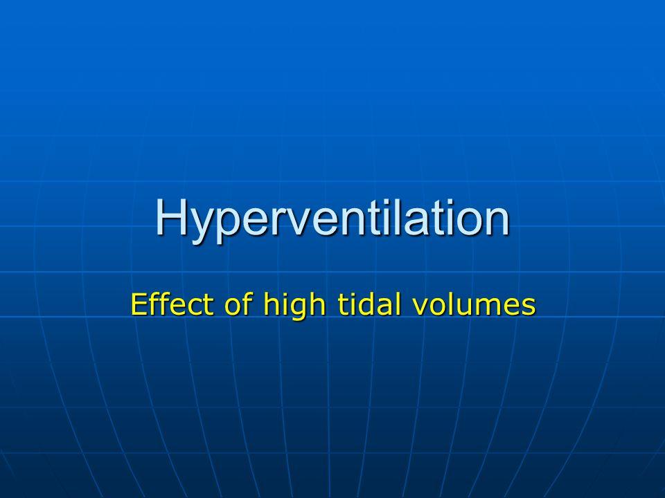 Hyperventilation Effect of high tidal volumes
