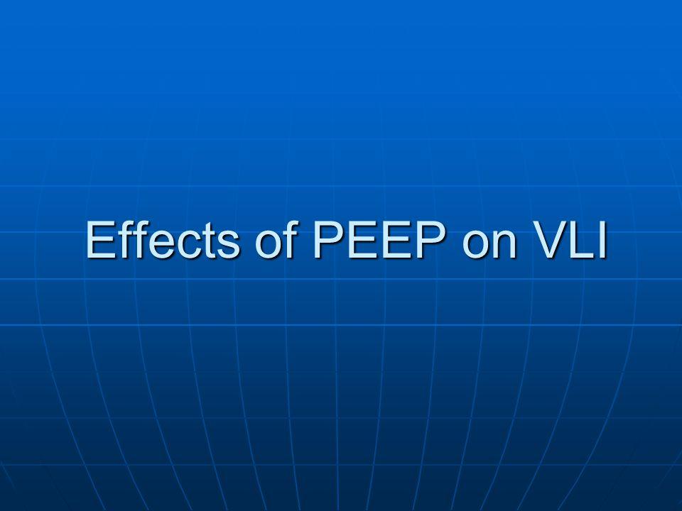 Effects of PEEP on VLI