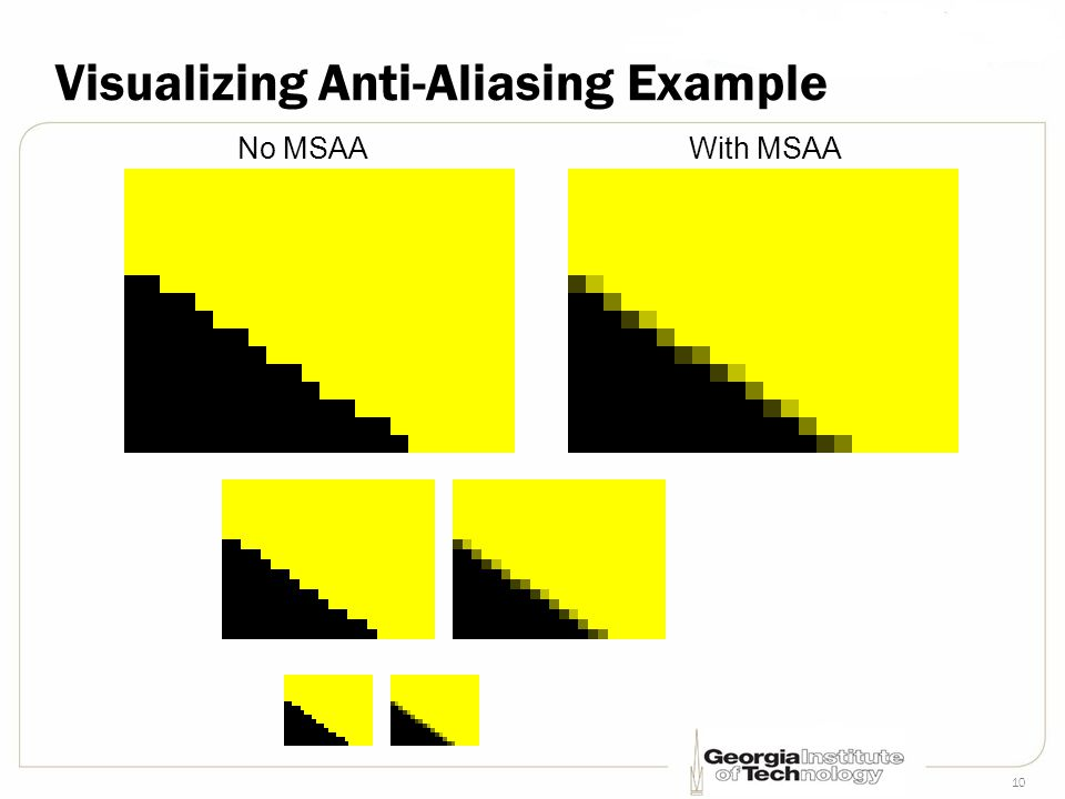 10 Visualizing Anti-Aliasing Example No MSAAWith MSAA
