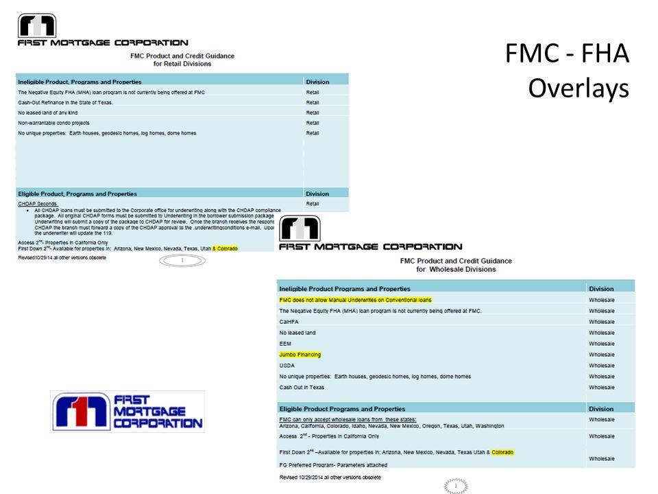 FMC - FHA Overlays