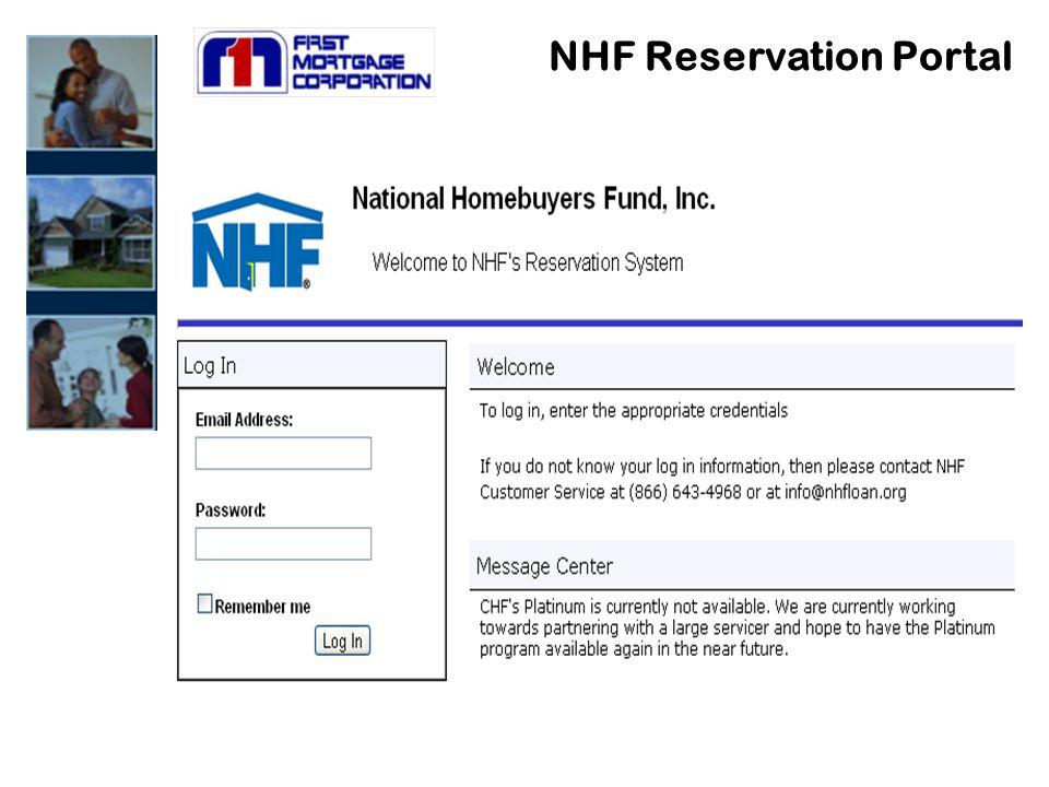 NHF Reservation Portal