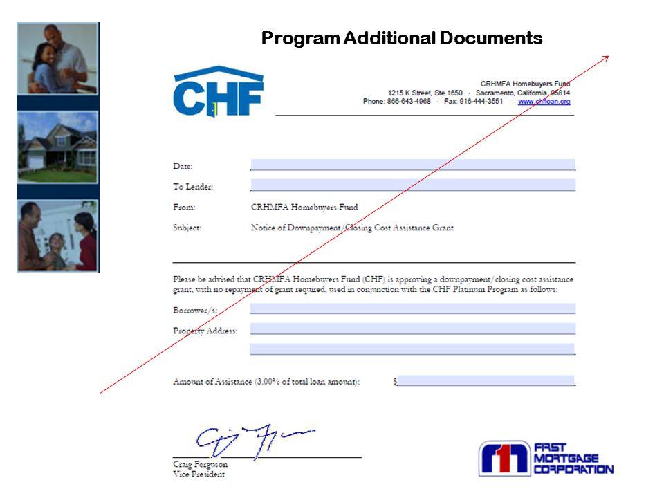 Program Additional Documents