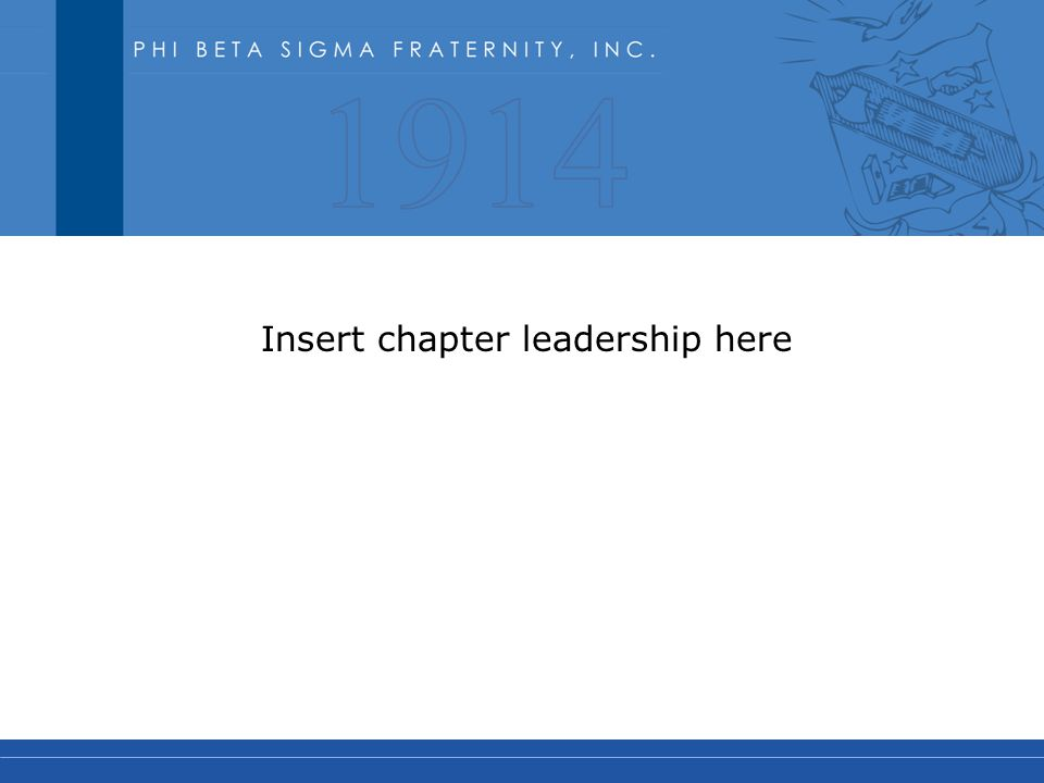 Insert chapter leadership here