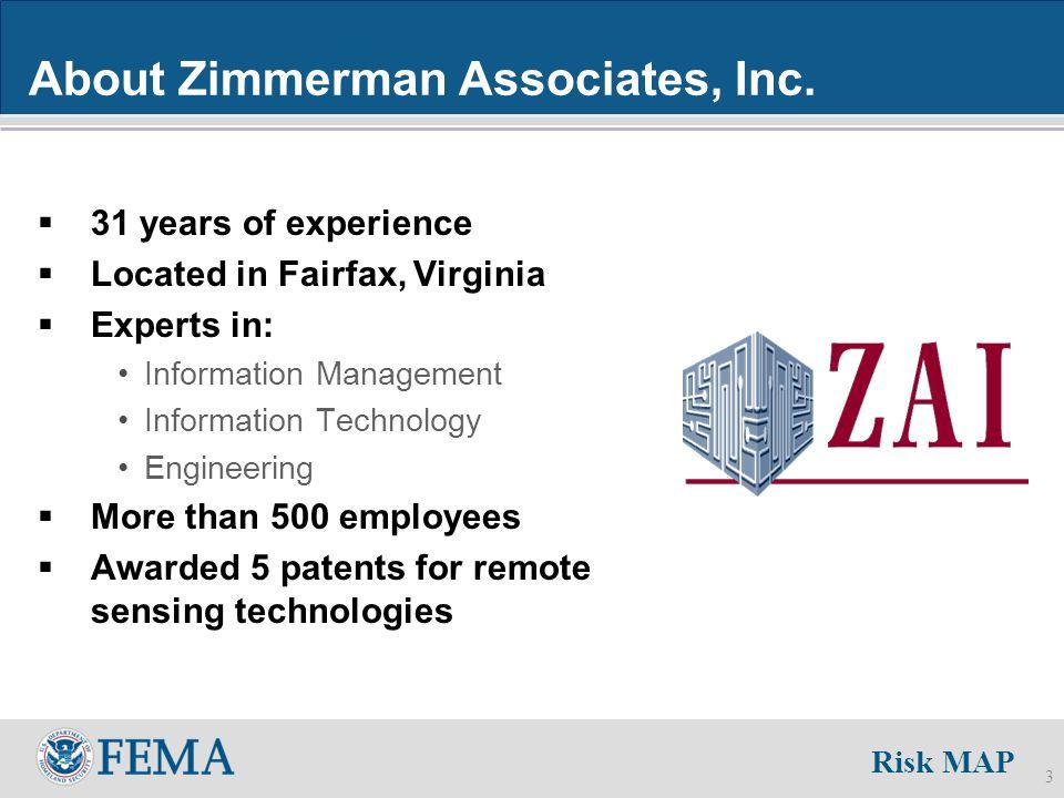 Risk MAP 3 About Zimmerman Associates, Inc.