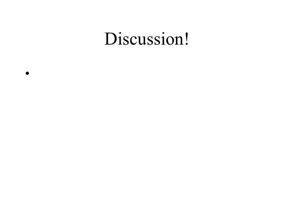 Discussion!