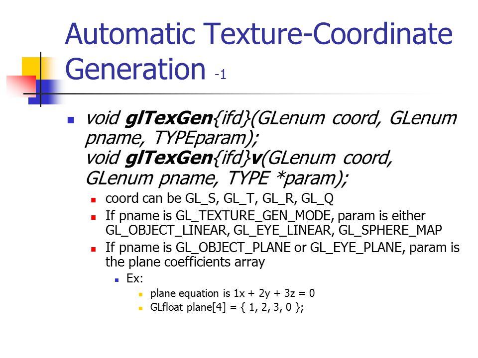 Texture Parameters