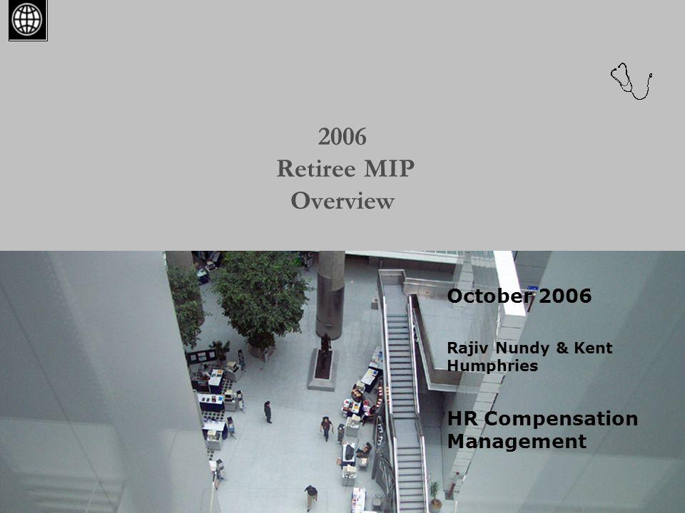 2 Agenda  Retiree Medical Insurance Program – Key features and recent changes  Recent Retiree MIP financial status  Prescription Program  Cost of the Rx program  Medicare Part D