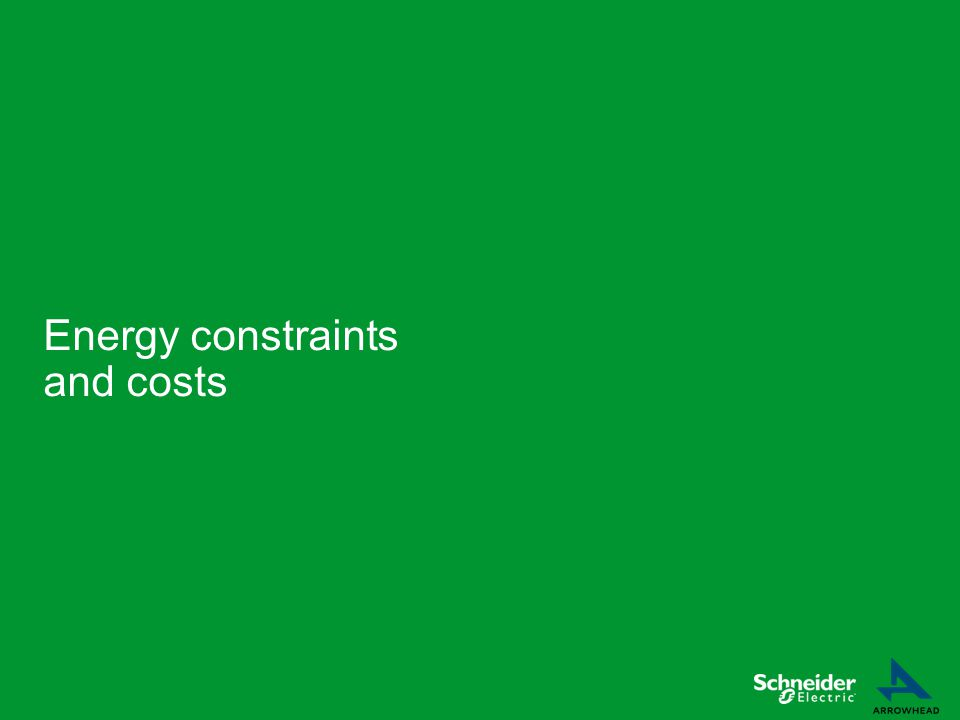 Energy constraints and costs