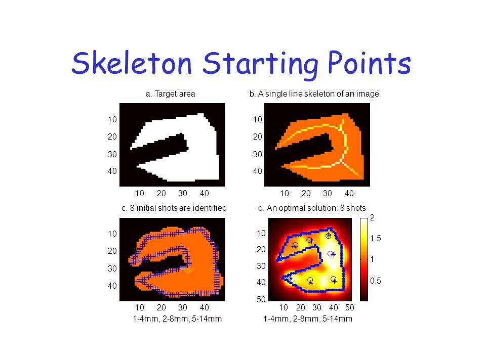Skeleton Starting Points 1020304050 10 20 30 40 50