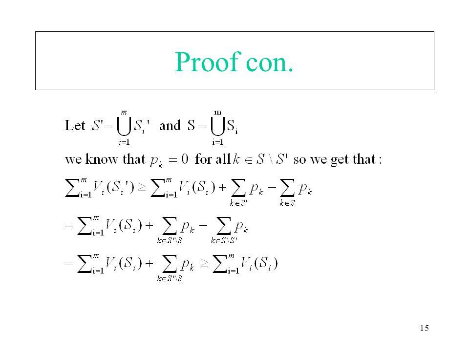 15 Proof con.