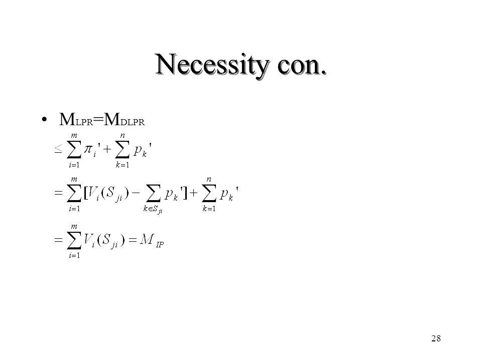 28 Necessity con. M LPR =M DLPR