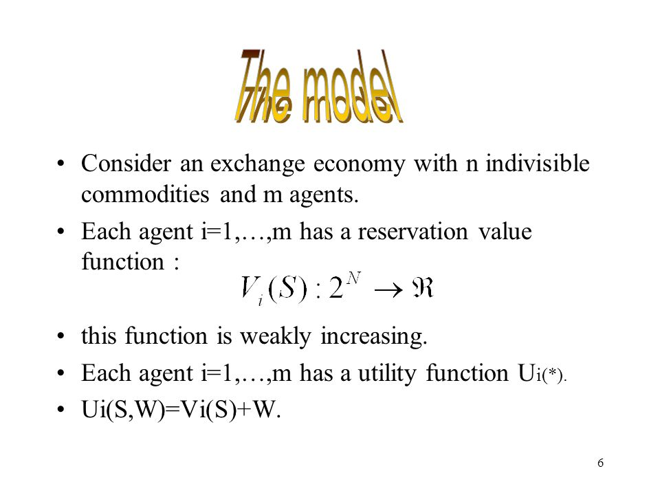 7 where w is wealth level, and Wi'=is the initial endowment of wealth of agent I.