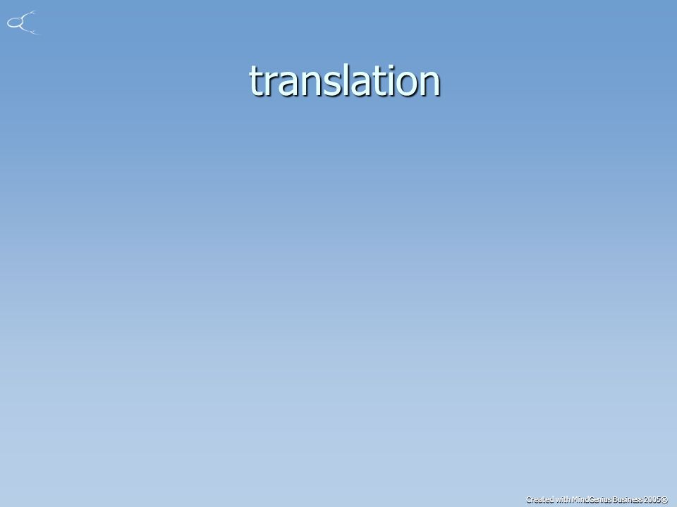 Created with MindGenius Business 2005® translation translation