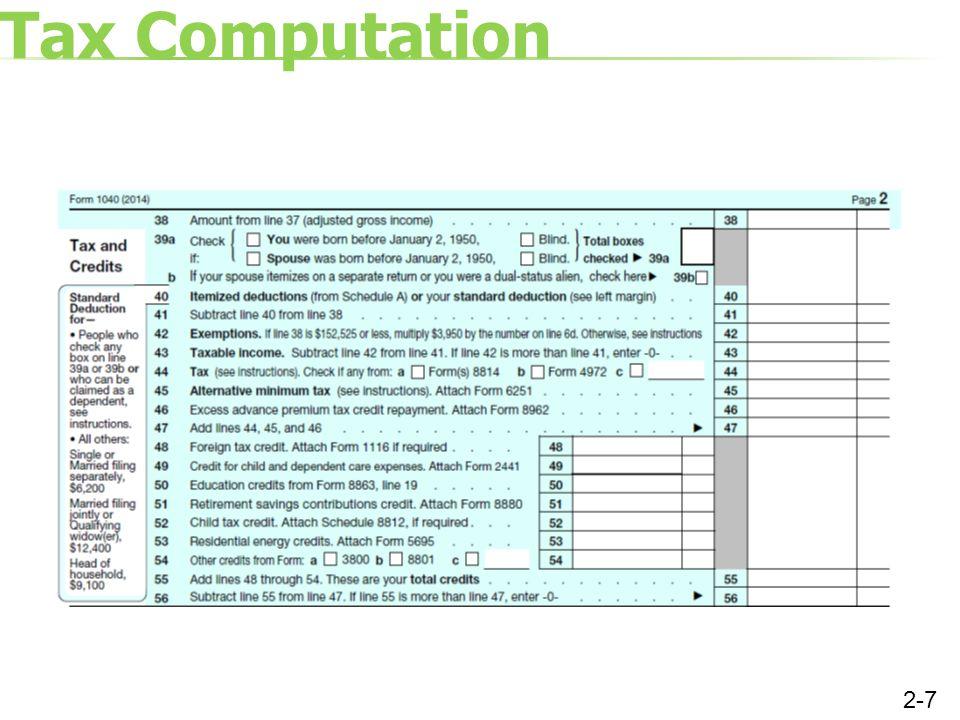 Tax Computation 2-7