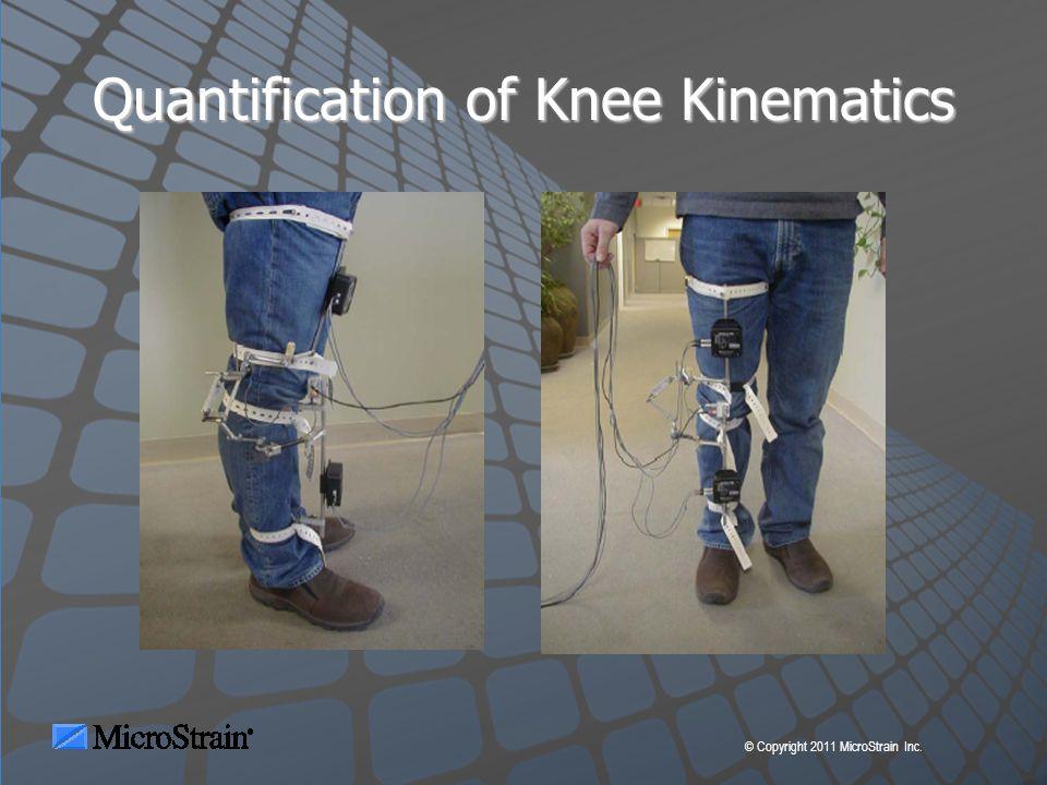 © Copyright 2011 MicroStrain Inc. Quantification of Knee Kinematics