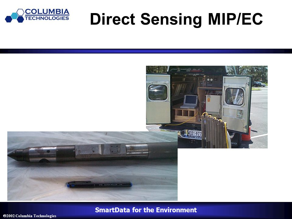 SmartData for the Environment  2002 Columbia Technologies Direct Sensing MIP/EC