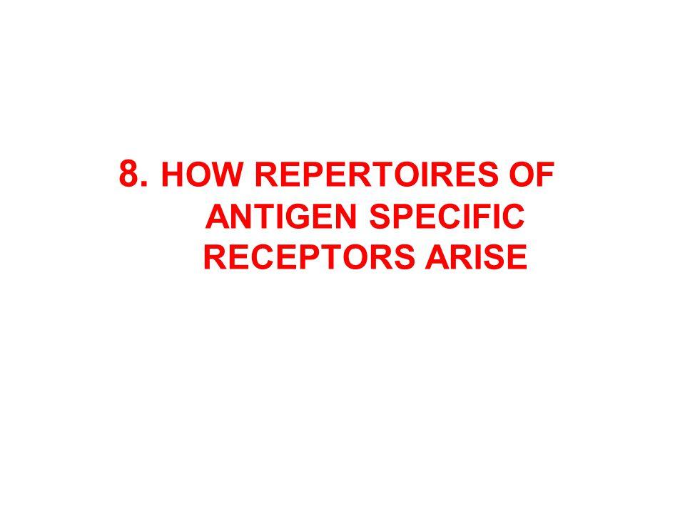 8. HOW REPERTOIRES OF ANTIGEN SPECIFIC RECEPTORS ARISE
