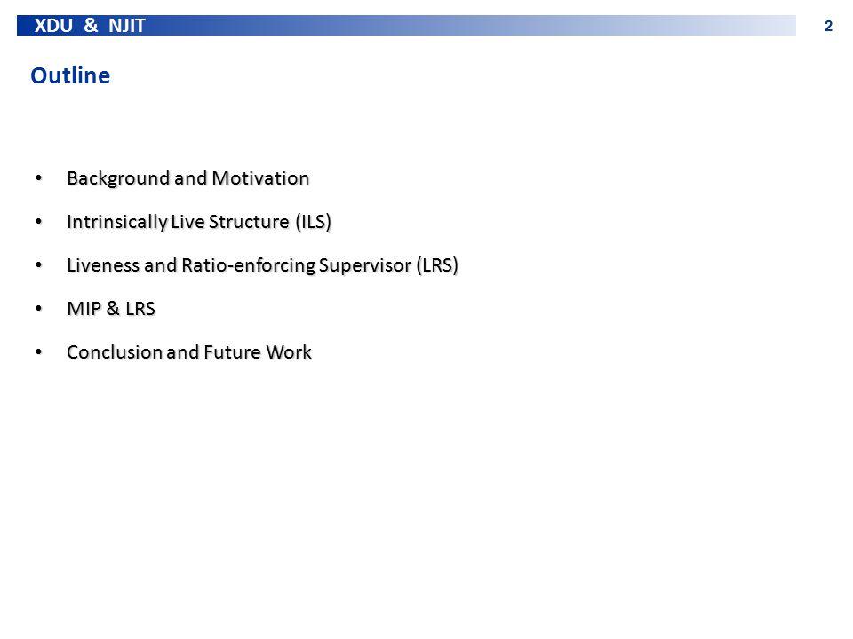 XDU & NJIT 2 Outline Background and Motivation Background and Motivation Intrinsically Live Structure (ILS) Intrinsically Live Structure (ILS) Livenes
