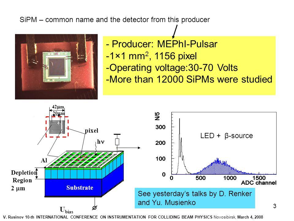 4 Scheme of assembling Detector unit: - 3×3, 6×6,12×12cm 2 - uniformity - cross-talk - drop between tiles V.