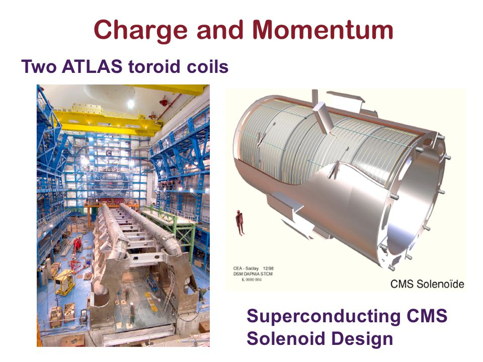 Charge and Momentum Two ATLAS toroid coils Superconducting CMS Solenoid Design