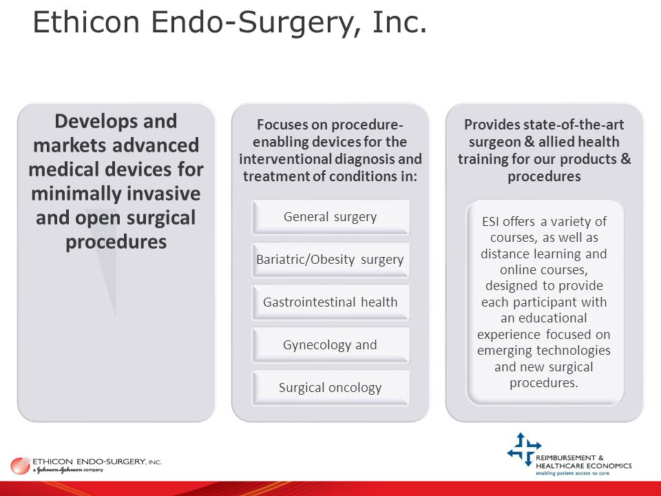 Our Value to the Payor & Patient www.ethiconendo.com