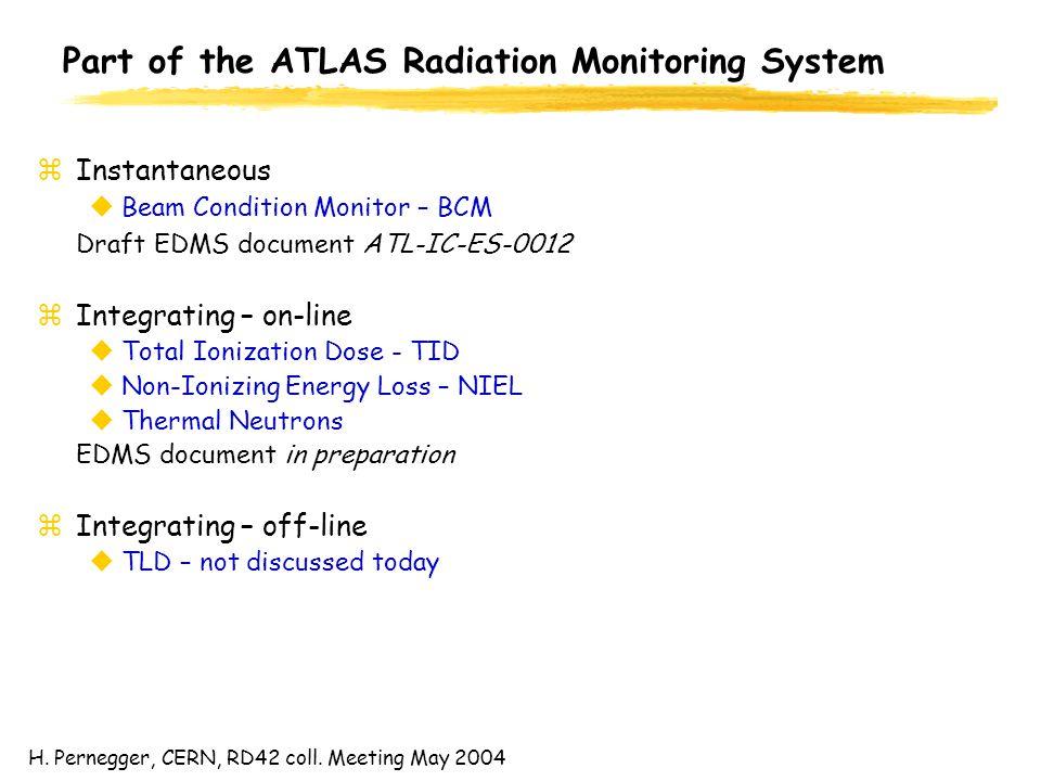 H.Pernegger, CERN, RD42 coll.
