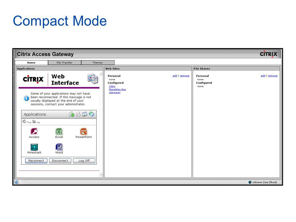 Compact Mode