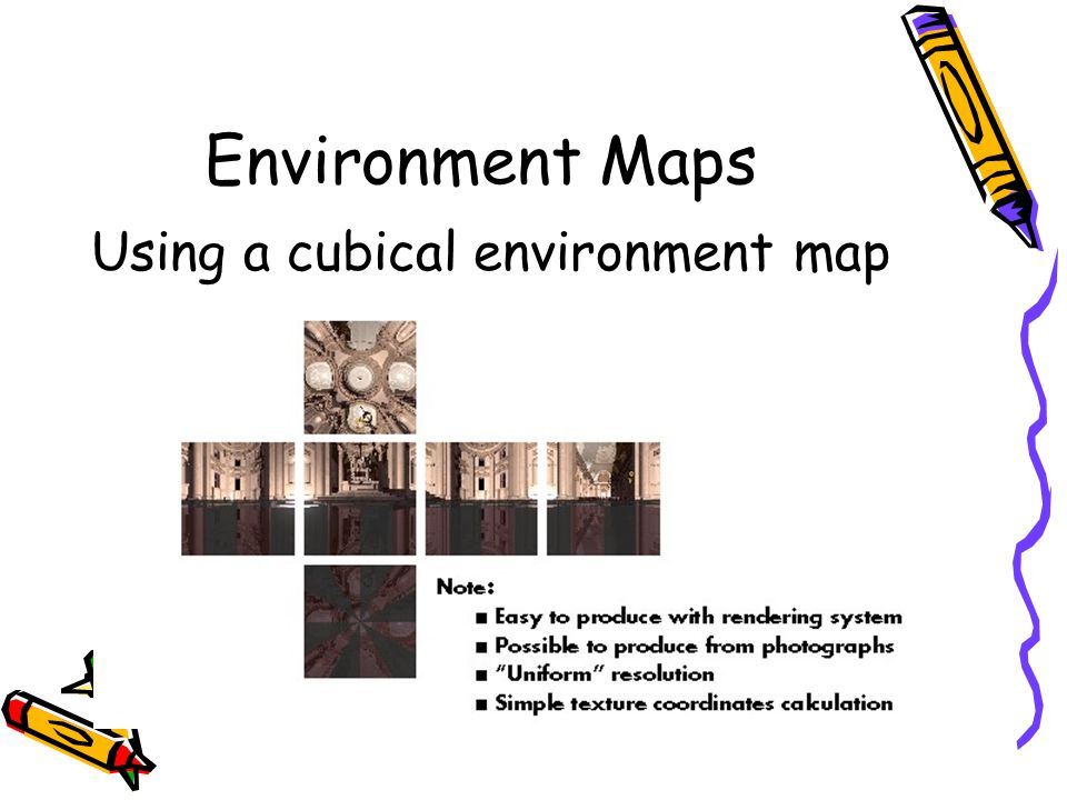 Environment Maps Using a cubical environment map