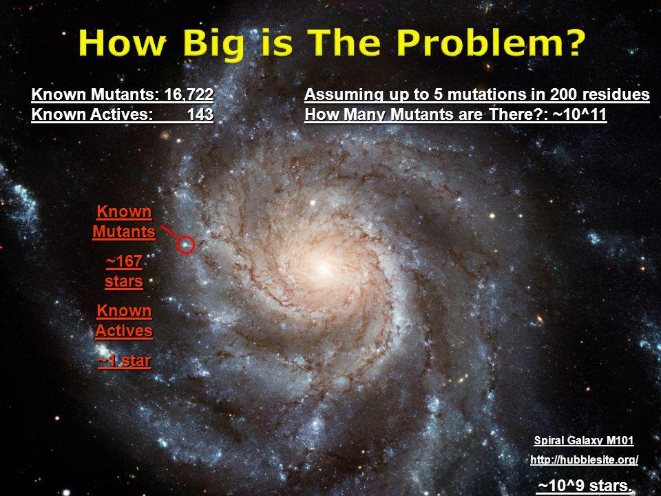 Spiral Galaxy M101 http://hubblesite.org/ ~10^9 stars.