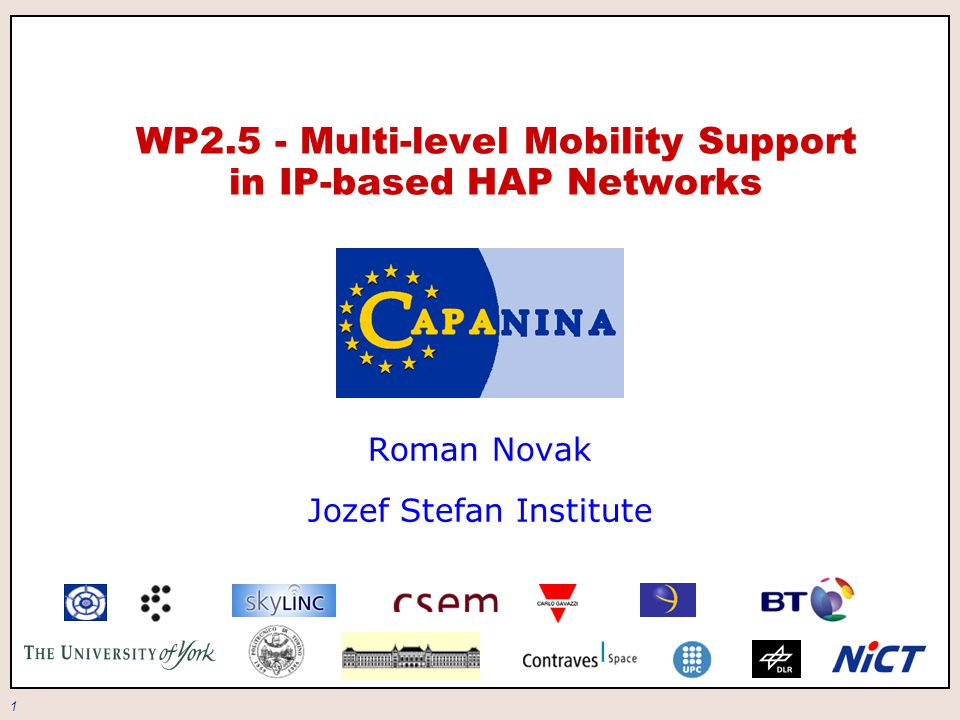 2 Introduction alternative communication scenarios all-IP approach mobility architecture support for multi-level mobility route optimization issues conclusion