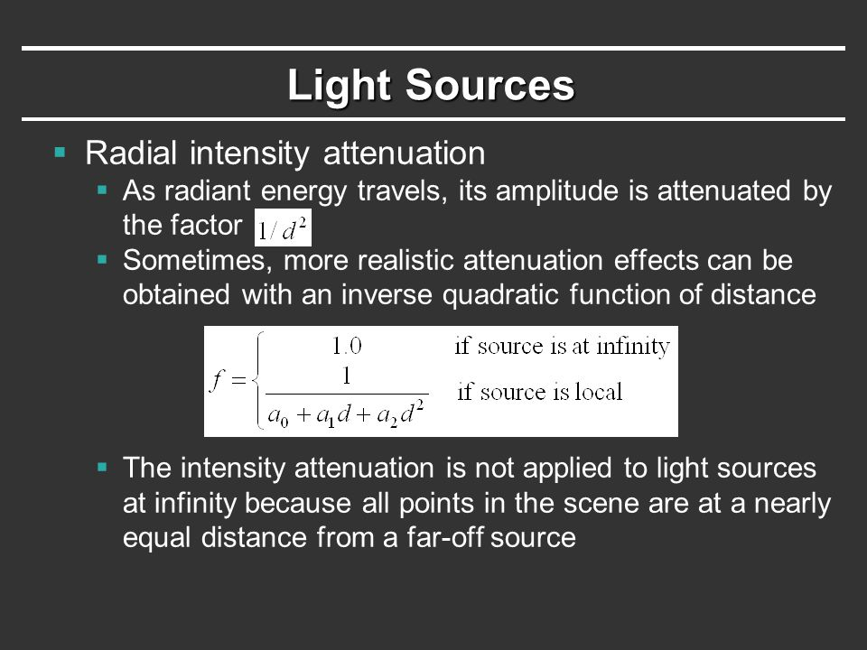 Specular Reflection  Specular-reflection coefficient k s is a material property  For some material, k s varies depending on   k s =1 if  =90°  Calcularing the reflection vector R